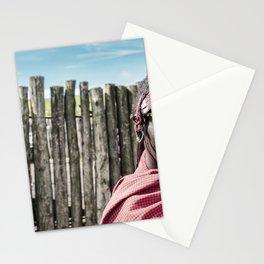 4117 Maasai Warrior Ngorongoro Tanzania Stationery Cards