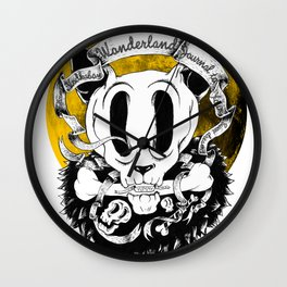 Dog skull Wall Clock