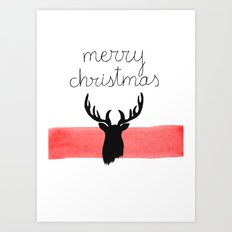Christmas time - Deer edition Art Print