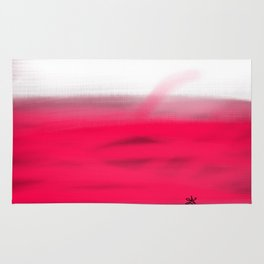 Pink Fields Abstract Painting - Dreaming in Nature Rug