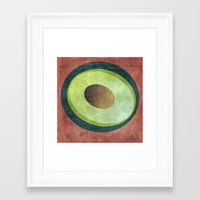 avocado Framed Art Prints featuring Avocado by Red Coat Studio Design