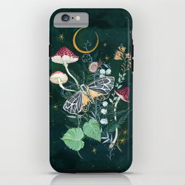 Mushroom night moth iPhone Case
