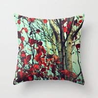 moulin rouge Throw Pillows featuring Rouge  by Slight Clutter