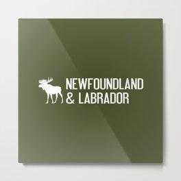 Newfoundland and Labrador Moose Metal Print