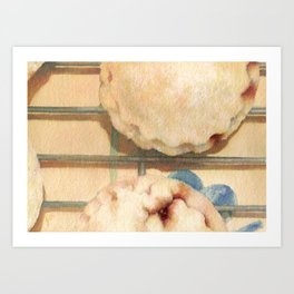 Mince Pies Christmas Sweet Pastries Food Still Life Watercolor Painting Art Print