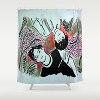 kpop Shower Curtains featuring Forest Floor by Ahri Tao