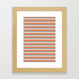 Zig Zag Crazy Framed Art Print