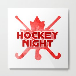 hockey night Metal Print