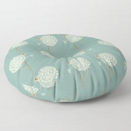 Mouse in a Dandelion Pattern Floor Pillow