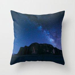 Milky Way Over Wadi Rum Throw Pillow