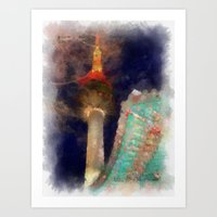 seoul Art Prints featuring Seoul Tower by Marisa Johnson :: Art & Photography