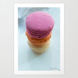 The Art of Food Macarons Art Print