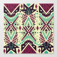 tribal Canvas Prints featuring Tribal by Kakel