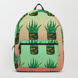 Snake plant pattern - Gradient Backpack