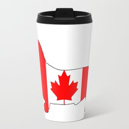 "Basset Hound ""Canada"" Travel Mug"