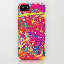 Abstract Magical Garden iPhone Case