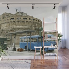 Castel Sant Angelo between past and present in color Wall Mural