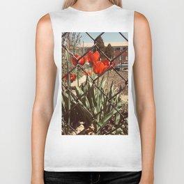 The Red Tulips Biker Tank