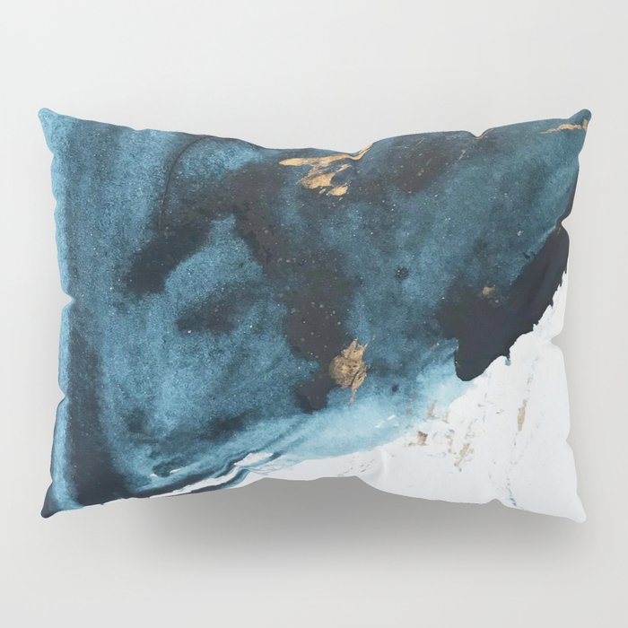 Sapphire and Gold Abstract Pillow Sham