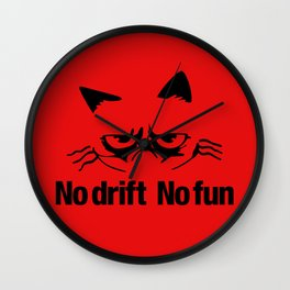 No drift No fun v5 HQvector Wall Clock
