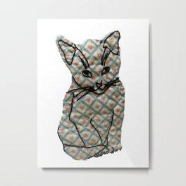 Loving Cat Sitting Pretty Metal Print