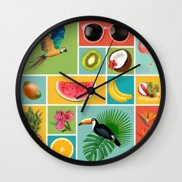 Summer Panopticum Wall Clock