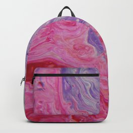 Fluid Nature - Colliding Pastels - Pink Lilac Abstract Art Backpack