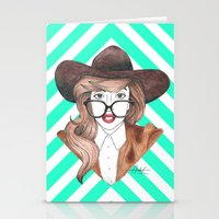 nerd Stationery Cards featuring Nerd by Andres Estrada