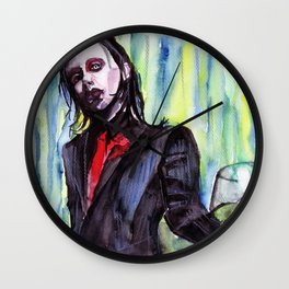 MaNsinthe, portrait of M.M. made by Ines Zgonc Wall Clock