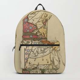 Camille by Alphonse Mucha Backpack