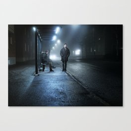 By the bus stand Canvas Print