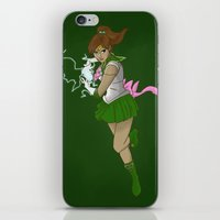 supreme iPhone & iPod Skins featuring Supreme Thunder by Kristaia