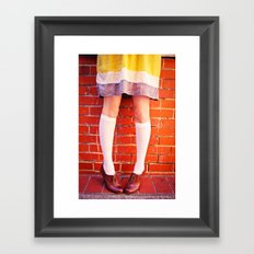 It's all about the shoes! Framed Art Print