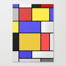 Piet Mondrian Patterns Canvas Print