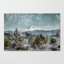 Frosty Mountain Canvas Print