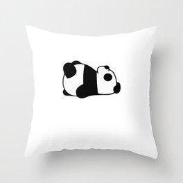 Slumber Panda Animal Party Shirt Sleepover Pajama Girl Women Throw Pillow