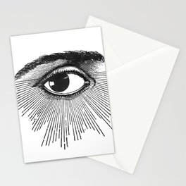 I See You. Black and White Stationery Cards