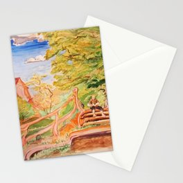 Reading Outside the Village Stationery Cards