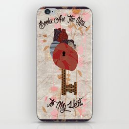 Books Are The Key To My Heart iPhone Skin