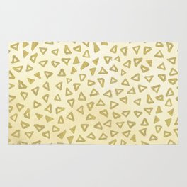 Gold Glitter Triangles Rug