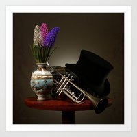 trumpet Art Prints featuring Trumpet by Joseph Miller