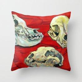 Animal Skull Study Throw Pillow