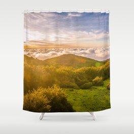 Sunset over Madeira Shower Curtain
