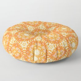 Marigold Kaleidoscope Peach and Burnt Sienna Floor Pillow