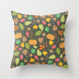 Thanksgiving pattern Throw Pillow