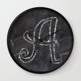 Chalkboard A letter Wall Clock
