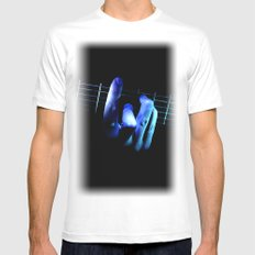 guitar SMALL White Mens Fitted Tee