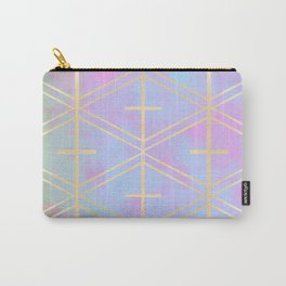 Rose Gold Trellis in Candy Skies Carry-All Pouch