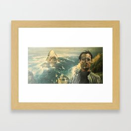 The Moment of Realization Framed Art Print