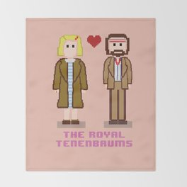 Margot and Richie Tenenbaum 8 bits Throw Blanket